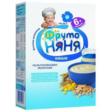 Каша Фрутоняня мультизлаковая молочная с 6 мес. 200 г