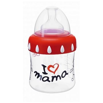 Бутылочка Bibi Mama  с широким горлом и соска  and регулируемый поток and  150 мл с рождения