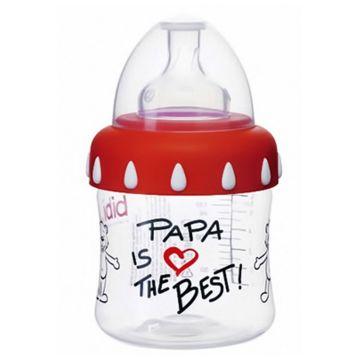 Бутылочка Bibi Papa  с широким горлышком + соска  and регулируемый поток and  150 мл с 1-го дня