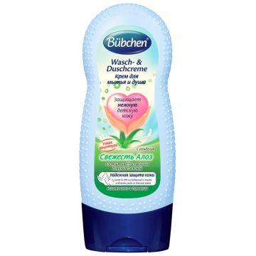 Крем для мытья и душа Bubchen Свежесть алоэ 230 мл с рождения