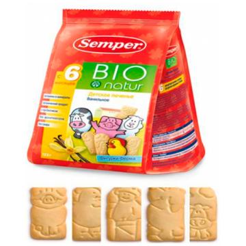 Печенье детское Semper БИО Ванильное Фигурки Ферма с 6 мес 125 г