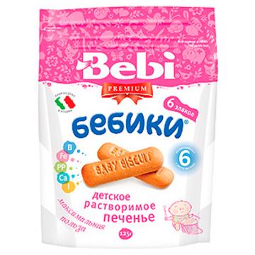 Печенье детское Bebi Премиум БЕБИКИ 6 злаков с 6 мес 125 г