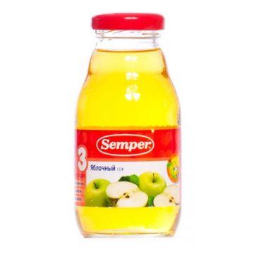 Сок Semper яблоко без сахара 1 ступень 200 мл