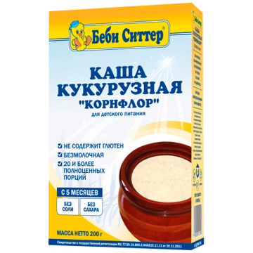 Каша-кисель Детская каша Беби Ситтер кукурузная безмолочная с 5 мес. 200 г