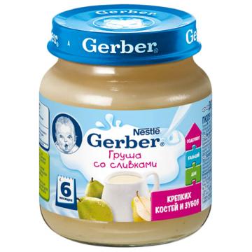 Детское пюре Gerber Груша со сливками с 6 мес. 125 г