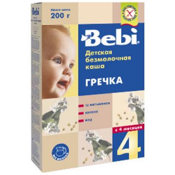 Каша Bebi гречневая безмолочная с 4 мес. 200 г