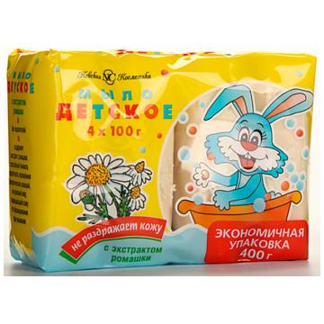 Мыло детское туалетное Невская косметика ромашка 4*100 г