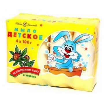 Мыло детское туалетное Невская косметика череда 4*100 г