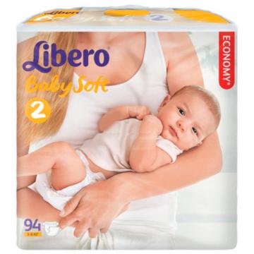 Подгузники Libero baby soft размер S (3-6 кг) 94 шт