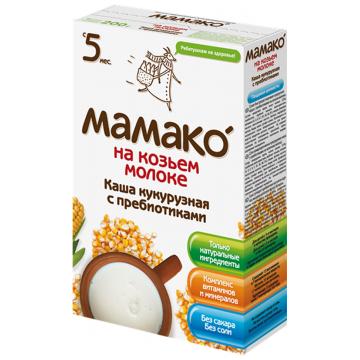 Каша Мамако кукурузная с пребиотиками на козьем молоке от 5 мес. 200 г