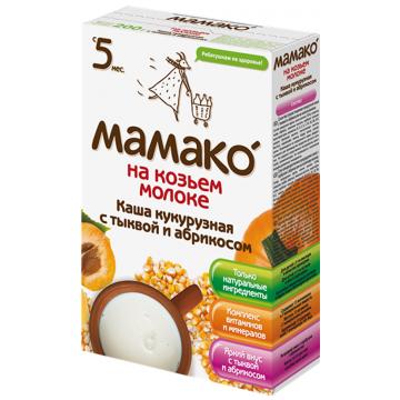 Каша Мамако кукурузная с тыквой и абрикосом на козьем молоке от 5 мес. 200 г