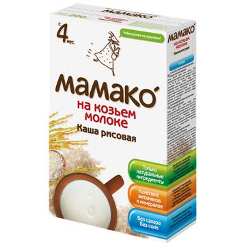 Каша Детская каша Мамако рисовая на козьем молоке от 4 мес. 200 г
