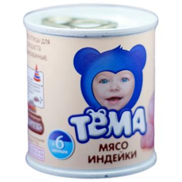 Детское пюре Тема индейка с 6 мес. 100 г