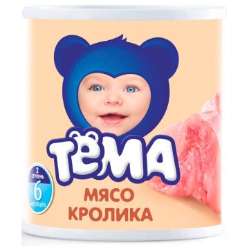 Детское пюре Тема кролик с 6 мес. 100 г