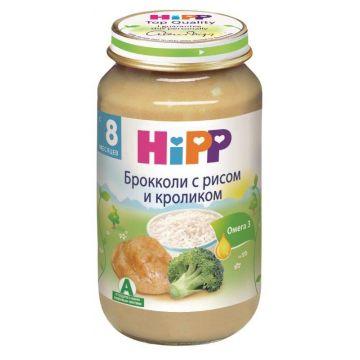 Детское пюре Детское питание Hipp брокколи с рисом и кроликом с 8 мес. 220 г