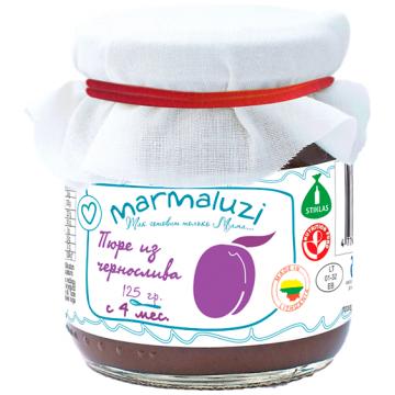 Детское пюре Marmaluzi из чернослива с 4 мес. 125 г