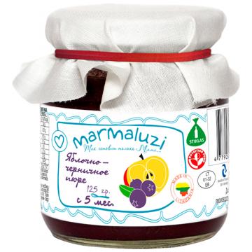 Детское пюре Marmaluzi Яблочно-черничное с 5 мес. 125 г