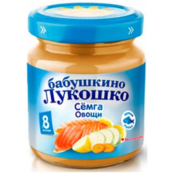 Детское пюре Бабушкино Лукошко рагу семга с овощами с 8 мес. 100 г