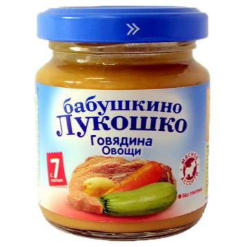 Детское пюре Бабушкино Лукошко рагу говядина овощи с 7 мес. 100 г