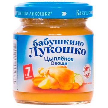 Детское пюре Бабушкино Лукошко рагу цыпленок овощи с 7 мес. 100 г