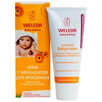 Крем для младенцев Weleda с календулой для защиты в области пеленания 75 мл.