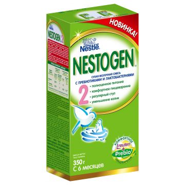 Сухая молочная смесь Nestogen 2 (с пребиотиками) с 6 мес. 350 гр