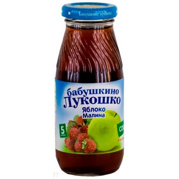 Сок Бабушкино Лукошко яблоко малина осветленный с 5 мес. 200 мл.