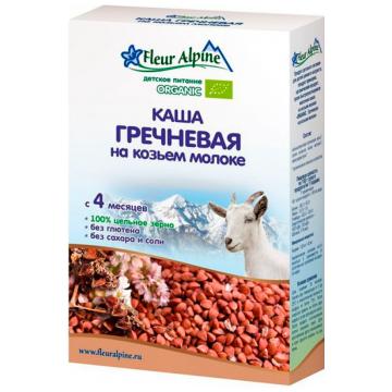 Каша Fleur Alpine гречневая на козьем молоке Organic с 4 мес. 200 г