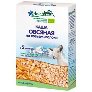 Каша Fleur Alpine овсяная на козьем молоке Organic с 5 мес. 200 г