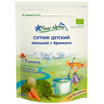 Супчик Fleur Alpine овощной с брокколи Organic с 7 мес. 120 гр.