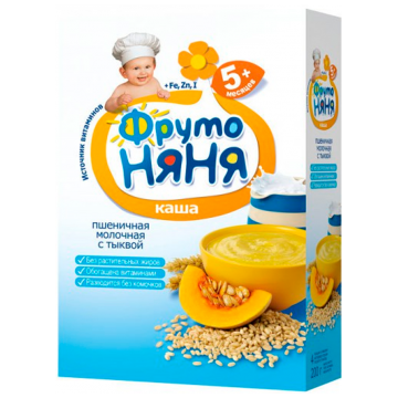 Каша Фрутоняня пшеничная тыква молочная с 5 мес. 200 г