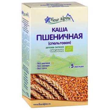 Каша Fleur Alpine Пшеничная (спельтовая) Organic с 5 мес. 175 г