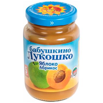 Детское пюре Бабушкино Лукошко Яблоко абрикос с 5 мес. 200 г