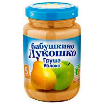 Детское пюре Бабушкино Лукошко Груша яблоко с 5 мес. 200 г