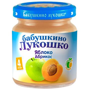Детское пюре Бабушкино Лукошко Яблоко абрикос с 4 мес. 100 г