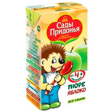 Детское пюре Сады придонья Яблоко с 4 мес. 125 г