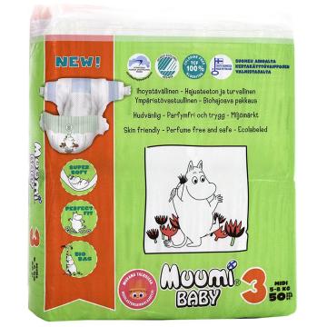 Подгузники Muumi Baby Midi (5-8 кг) 50 шт