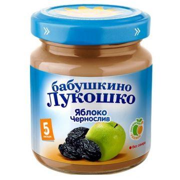 Детское пюре Бабушкино Лукошко Яблоко чернослив с 5 мес. 100 г