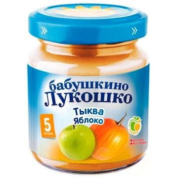Детское пюре Бабушкино Лукошко Тыква яблоко с 5 мес 100 г