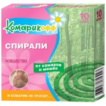 Детские спирали от комаров Комарикофф с 7 лет 10 шт