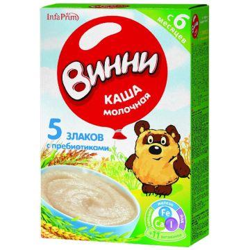 Каша Винни 5 злаков молочная с 6 мес. 220 г