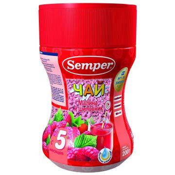 Чай детский Semper малина и шиповник с 5 мес. 200 г