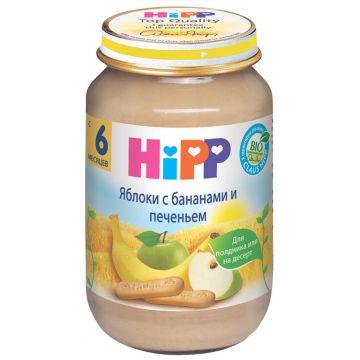 Детское пюре Hipp Яблоки с бананами и печеньем с 6 мес. 190 г