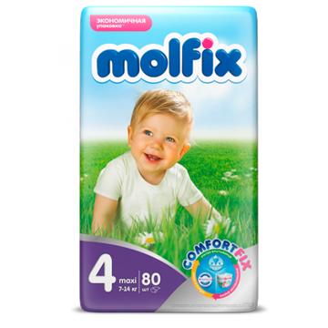Подгузники Molfix Maxi (7-14 кг) 80 шт