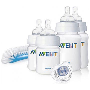 Подарочный набор для новорожденных Avent Natural (2x125 мл 2x260 мл щеточка)