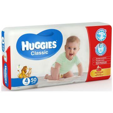 Подгузники Huggies Classic 4 (7-18 кг) мега 50 шт