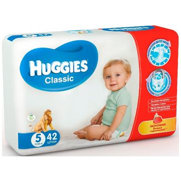 Подгузники Huggies Classic 5 (11-25 кг) джамбо 42 шт