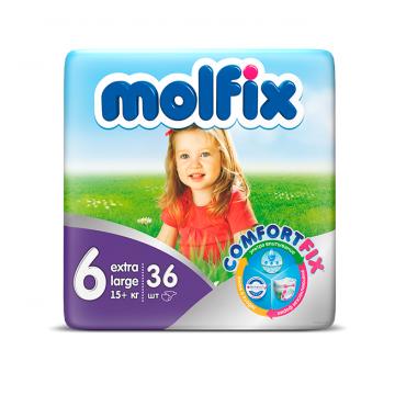 Подгузники Molfix Extra Large (16+ кг) 36 шт