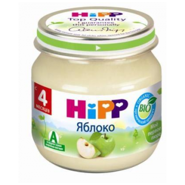 Детское пюре Детское питание Hipp яблоко с 4 мес. 80 г