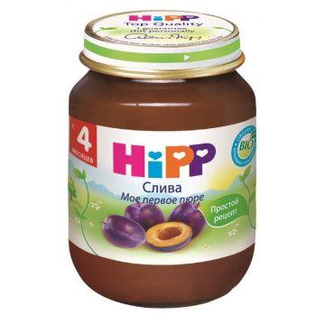 Десткое пюре Детское питание Hipp слива. с 4 мес. 80 г
